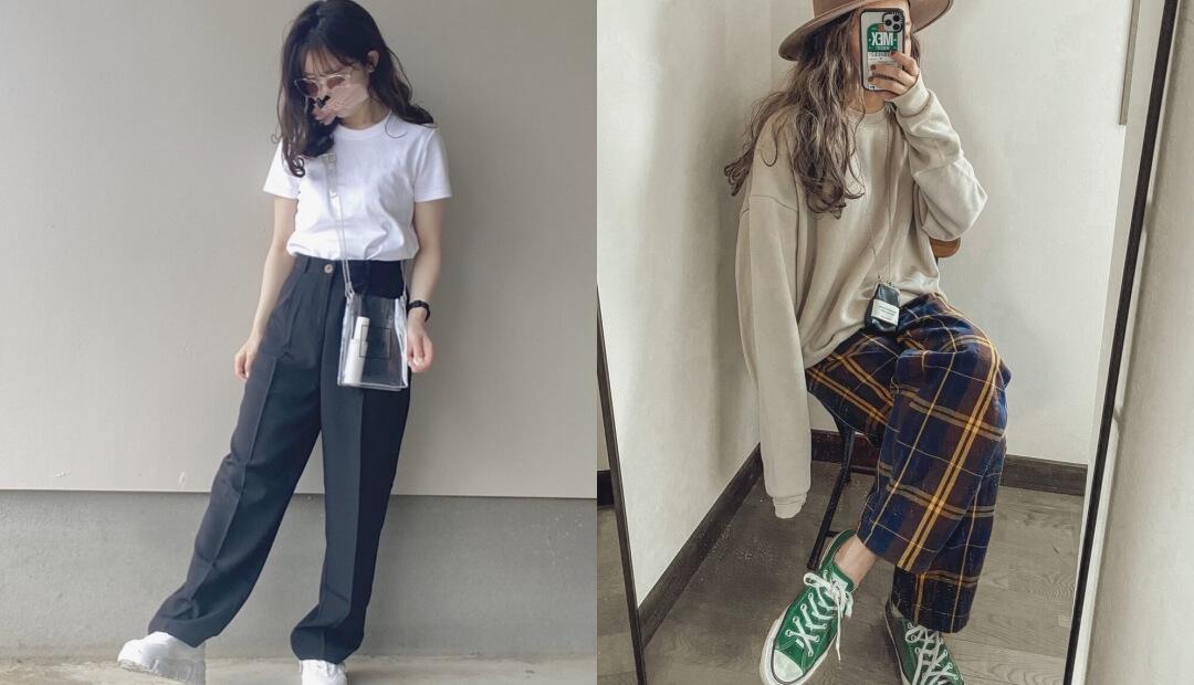 韓国ファッションのレディースコーデ