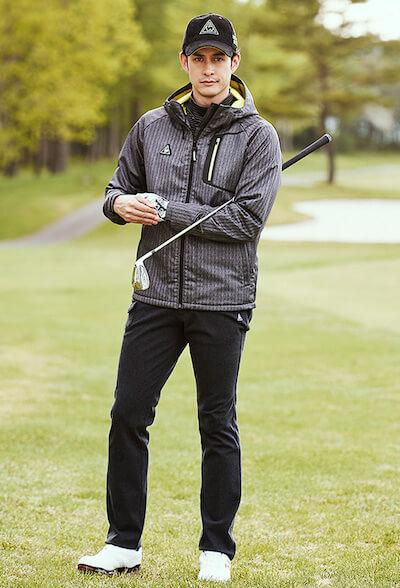 ゴルフウェアのメンズの冬コーデ!画像で紹介します!